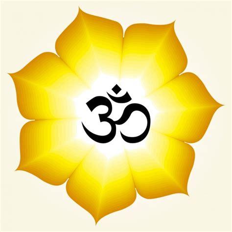 simbolo fiore simbolo om su un fiore giallo scaricare vettori gratis