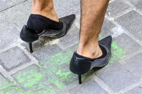 Issue Black Heels wearing a black high heels shoes stock image image of runner issues 64970461