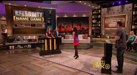 what is celebrity name game sashani and jason on celebrity name game with jane leeves