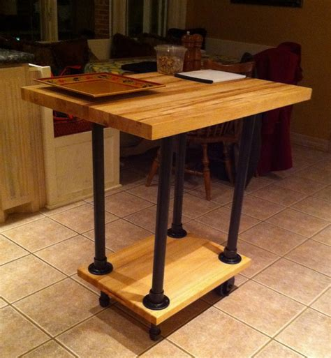 movable kitchen islands butcher block table movable diy movable butcher block kitchen island food cart