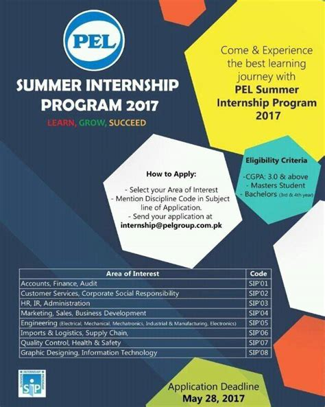 Summer Internship 2017 Deadlines For Application Mba pel summer internship program 2017 apply last date