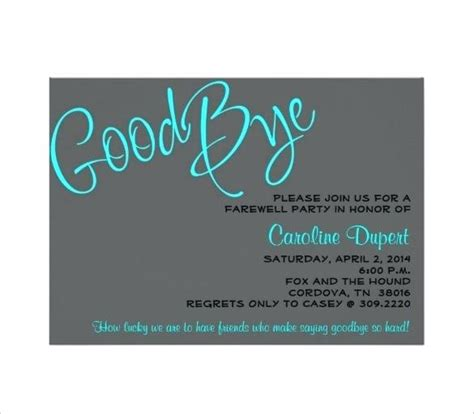 Free Printable Farewell Card Template by Printable Goodbye Card Template Midcitywest Info
