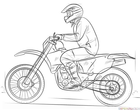 how to draw a motocross bike motocross helmet drawing pixshark com images