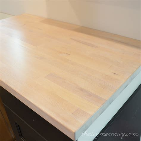 Staining And Sealing Butcher Block Countertops by Whitewash And Seal A Butcher Block Counter Top The Diy