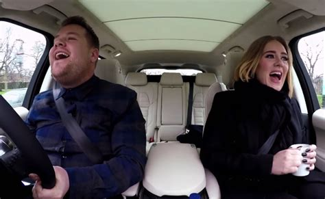 corden s carpool karaoke with adele leads