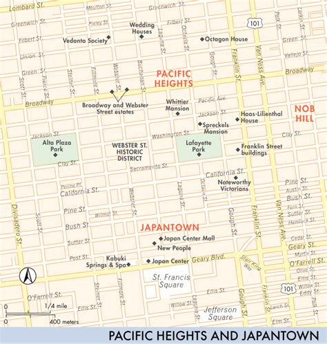 san francisco map pacific heights map of pacific heights and japantown pacific heights and