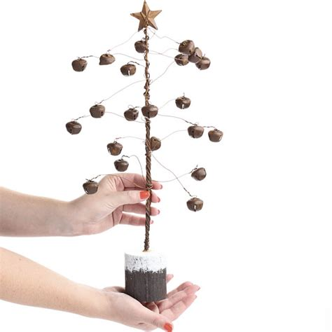 primitive rusty jingle bell tree christmas and holiday