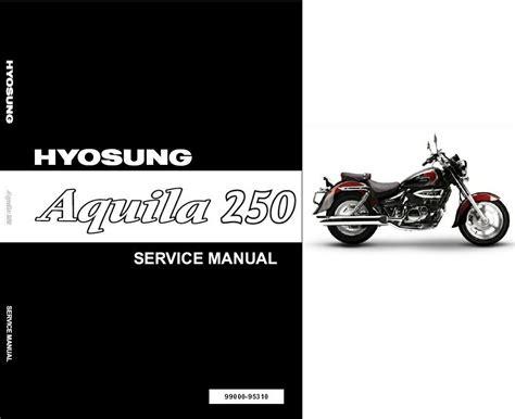 Hyosung Aquila 250 Gv250 Service Manual Cd