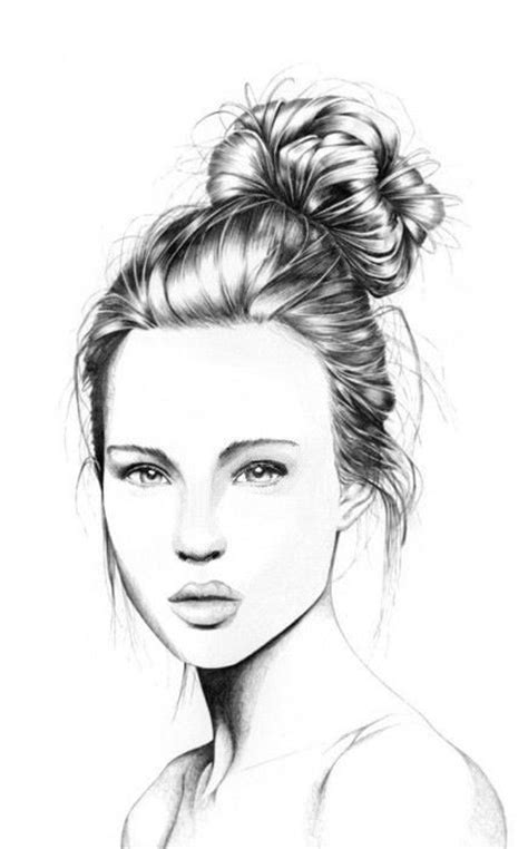 pretty girl face drawing untitled image 1112933 by nastty on favim com