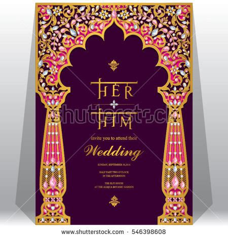 Wedding Card Template Stock Images Royalty Free Images Vectors Shutterstock Indian Wedding Invitation Card Template
