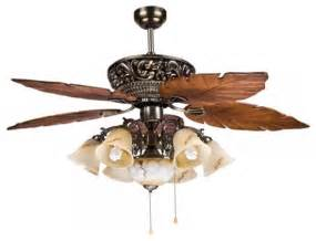 Nautical Outdoor Lighting Sconces Large Tropical Ceiling Fan Light With 5 Maple Leaves Blade