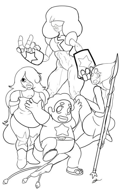coloring pages steven universe crystal gems steven universe coloring pages coloring pages