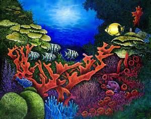 undersea decorating ideas undersea creatures ii painting by michael frank