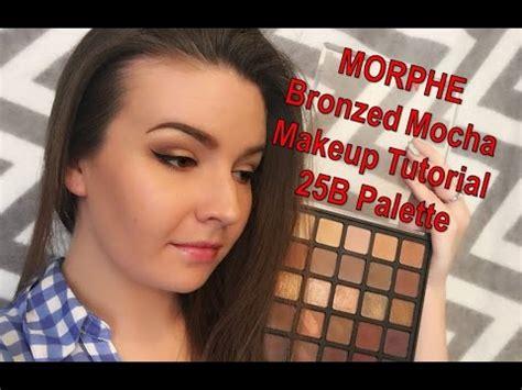 Morphe Eyeshadow Palette Bronzed Mocha Makeup We7 morphe bronzed mocha makeup tutorial 25b palette