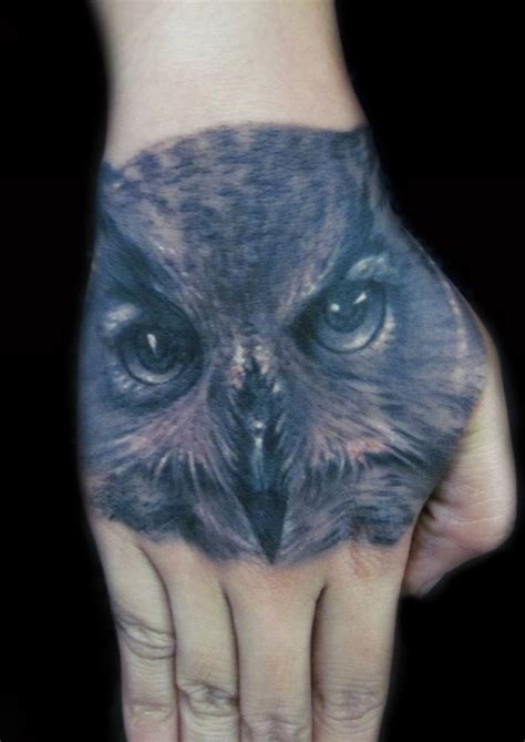 owl face tattoo owl design on busbones