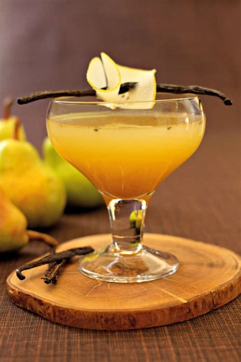 martini pear pear vanilla martini food fanatic