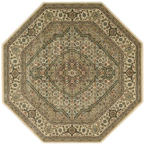 octagonal area rugs nourison genie ivory 7 ft 9 in octagon area rug 696014 the home depot