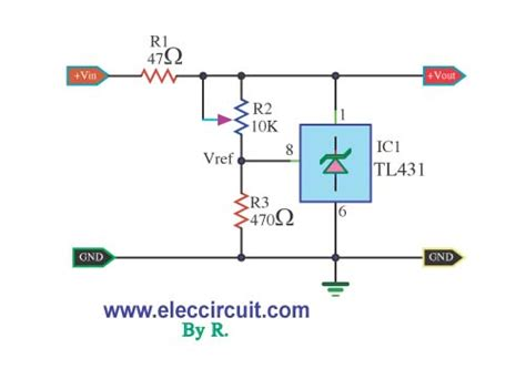 Free Online Calculator by Adjustable Regulator By Tl431 Electronic Projects Circuits