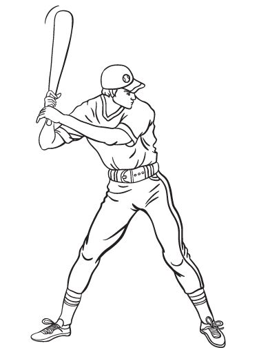 baseball coloring page pdf free baseball player coloring page