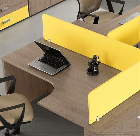 scrivanie componibili scrivanie con divisori per ufficio arredo componibile