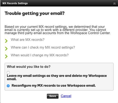 amazon web services    fix mx records