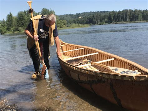 Handmade Canoe - unbc ccfpg launch handmade canoe as symbol of my