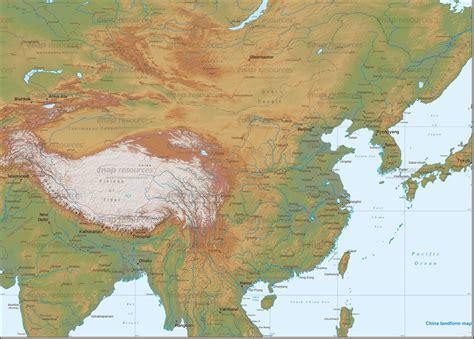 china landform map map china map shenzhen map world map