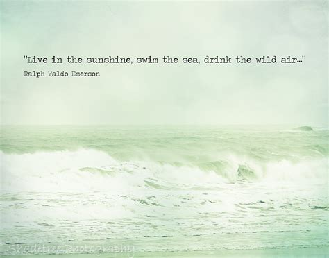 beach quote ocean photography ralph waldo emerson mint green