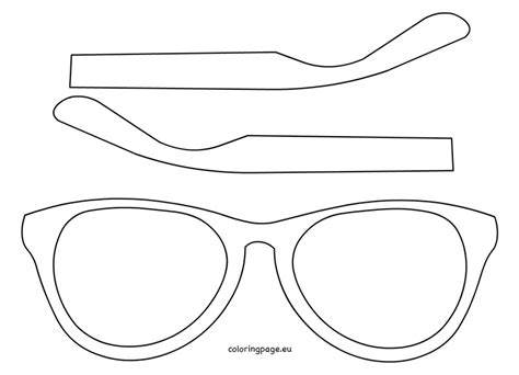 Eyewear Template Printable Coloring Page Laser Cut Glasses Template