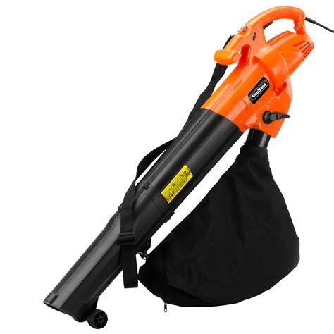 vacuum leaves vonhaus 2800w electric garden leaf vacuum blower with