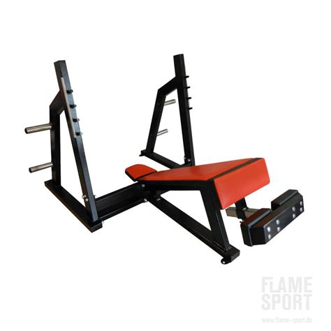 chest press bench olympic decline chest press bensch 3a flame sport