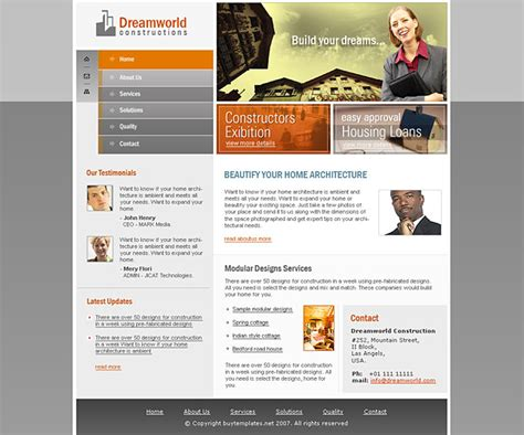 templates for website free download in flash full flash website templates for construction company