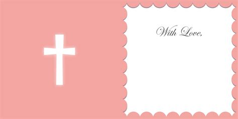 baptism card template tutorial create an individual christening card