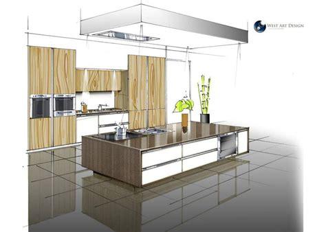 dessiner une cuisine en perspective perspective cuisine archisketching