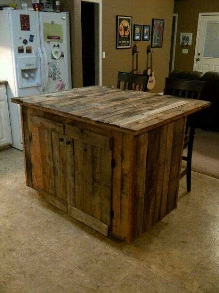kitchen island made out of pallet wood kitchen island made of pallets diy 1