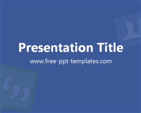 facebook ppt template free powerpoint templates