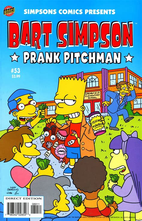going bats a marge mystery books bart comics 53 simpsons wiki