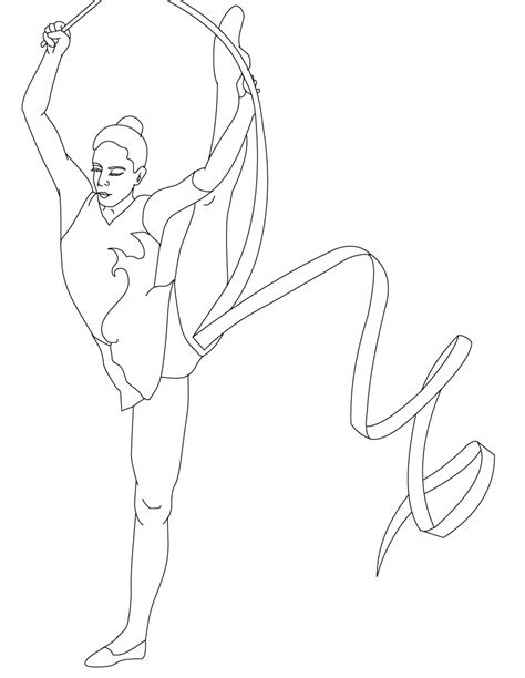 coloring pages for gymnastics free free printable gymnastics coloring pages for