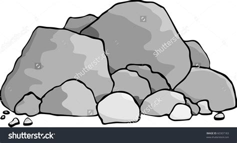 rock clipart rock clipart rock pile pencil and in color rock clipart