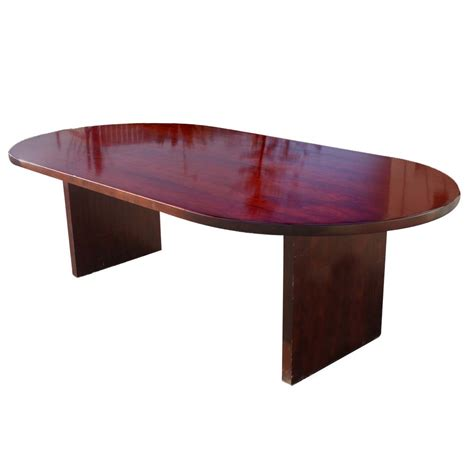 Mahogany Conference Table 8ft Vintage Racetrack Mahogany Dining Conference Table Ebay