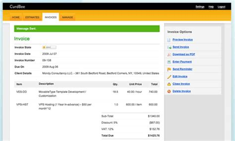 best free online invoice management services to create and