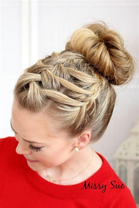 waterfall braid bun 28 diy hairstyles 25 best ideas about waterfall braid updo on pinterest