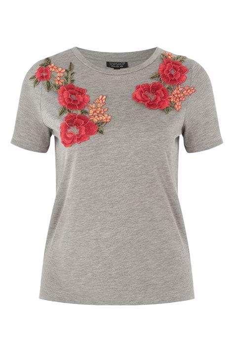 Floral Applique by Floral Applique T Shirt Topshop Usa