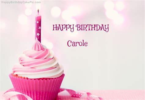 happy birthday cupcake candle pink cake  carole
