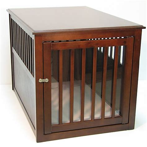 crates that look like furniture new deluxe indoor wood end table pet crate kennel medium black breeds picture