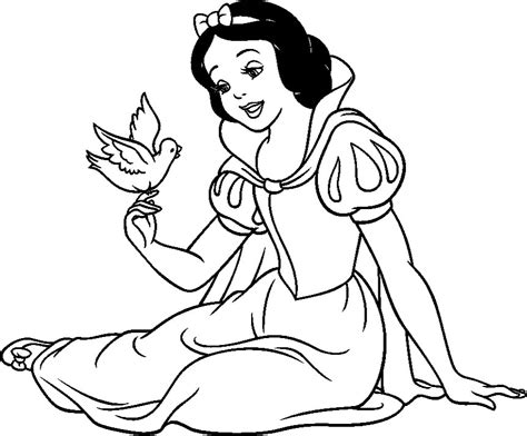snow white color pages az coloring pages