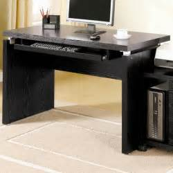Modern Black Desk Computer Desk Black House Ideals