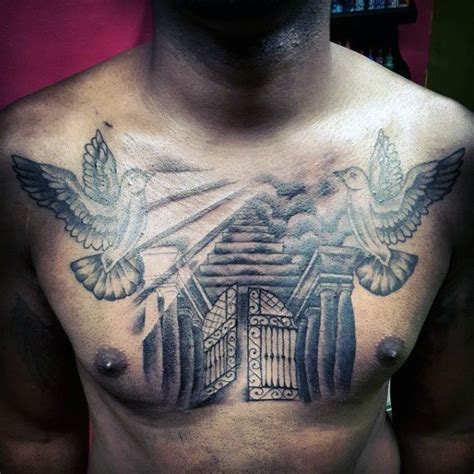 heavens gates tattoo 50 heaven tattoos for higher place design ideas