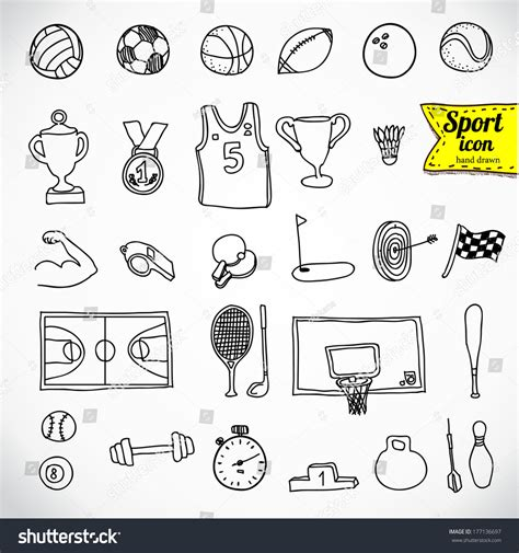 Sign Up For Doodle Account Doodle Sports Icon Vector
