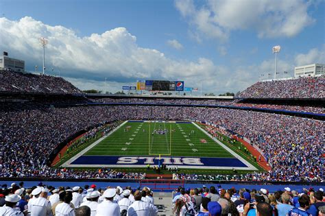 Buffalo Bills Family Section by Ralph Wilson Stadium Rock Pile